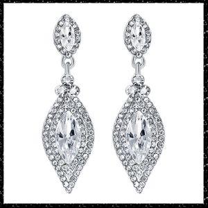 Crystal Water Drop Dangle Elegant Earrings
